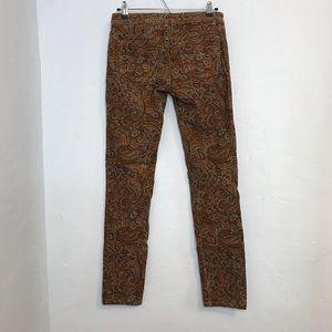 Prana Jeans - Prana fall tone paisley corduroy skinny jeans